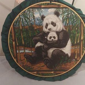 """12 """" momma panda bear with baby."""